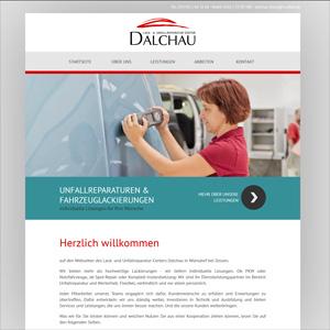 Webseite Lack- und Reparaturcenter Dalchau