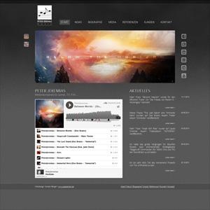 Webseite von Komponist Peter Jeremias