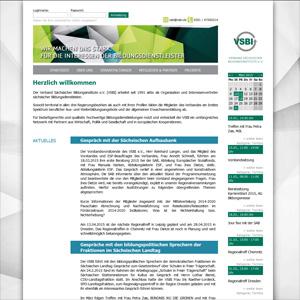 Webseite Verband Sächsischer Bildungsinstitute e.V.